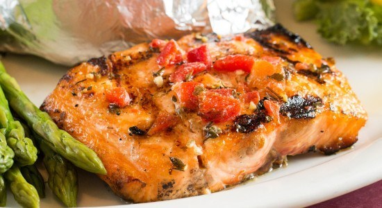 Adam's Grille & Taphouse Grilled Salmon