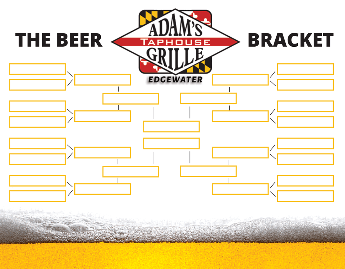 march madness beer bracket